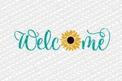 Welcome With Sunflower SVG   Farmhouse Sign   DXF and More Product Image 2