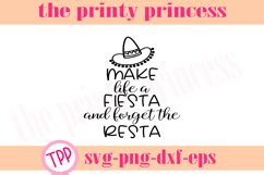 Make Life a Fiesta svg, fiesta svg, funny design file Product Image 1