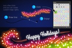 Magic Christmas Lights Vector Brushes Big Set Product Image 13