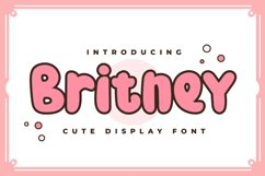 Britney - Cute Display Font Product Image 1