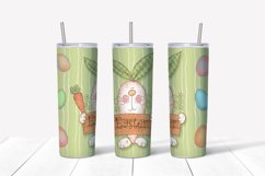 Happy Easter Png. Easter sublimation design. Skinny tumbler Product Image 5