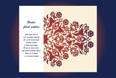 Laser cut floral arabesque ornament pattern vector. Template Product Image 1