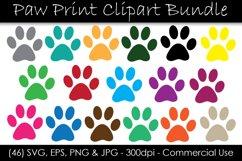 Paw Print SVG Bundle - Color Paw Print Clip Art Product Image 1