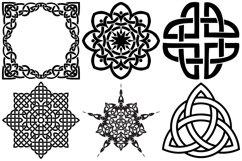 Celtic Symbols, Knots & Crosses AI EPS PNG, Irish Clip Art Product Image 4