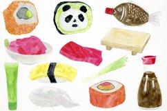 Sushi Clipart Sushi Clip Art, Sushi Graphics, Sushi PNG Product Image 2