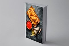 20 Photos Chicken nuggets and strips with spices. Background Product Image 3