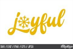 Joyful SVG, Christmas, Snowflake, PNG, DXF, Cricut Cut Files Product Image 1
