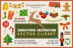 Christmas Decoration Vector Clipart Pack Product Image 1