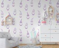 Scandinavian purple gnome digital paper Product Image 7