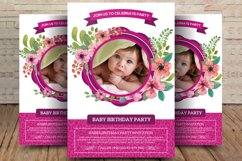 Baby Birthday Party Flyer Product Image 1