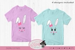 Easter Bunny face svg, Girl bunny face svg, cut file Product Image 2
