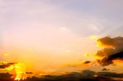Colorful sunset sky panorama in high resolution Product Image 1