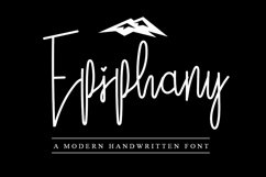 Epiphany | A Modern Handwritten Font Product Image 1