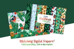 Bullfinch Watercolor Cliparts Product Image 2