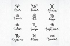 Astrology svg, zodiac signs svg, Zodiac Signs Cut Files Product Image 1