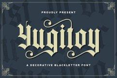 Yugitoy - Blackletter Font Product Image 1