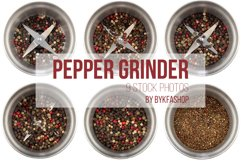 Steel Pepper Grinder Isolated Photo Bundle Product Image 1