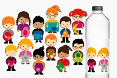Kids and 2D Shapes graphics and illustrations Product Image 1