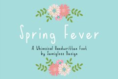 Spring Fever - A Handwritten Font Product Image 1