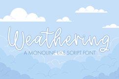 Weathering - A Monoline Script Font Product Image 1