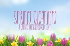 Web Font Spring Cleaning - A Quirky Handlettered Font Product Image 1