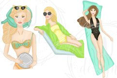 Summer Girls Clipart, Beach Clipart, Girl Illustrations Product Image 5