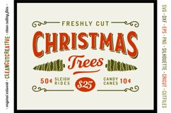 Freshly Cut Christmas Trees - Rustic Farm Wood Sign SVG file Product Image 1