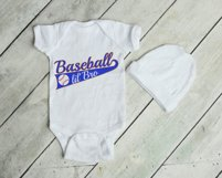 Baseball lil'Bro SVG | Silhouette and Cricut Cut File Product Image 2