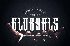 Web Font Gloryals Font Product Image 1