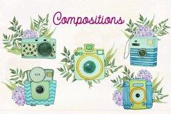 Floral Watercolor Vintage Cameras Product Image 5
