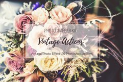 Vintage Photo Effect - 10 PS Actions Kit Product Image 1