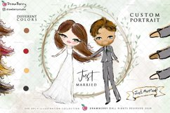 Wedding Clipart Bride & Groom PNG | Drawberry CP017 Product Image 1