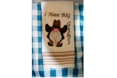 Gnome Toilet Paper Towel Embroidery Design Product Image 4