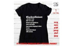 blacknificient definition svg, facts svg, Black Queen, Product Image 2