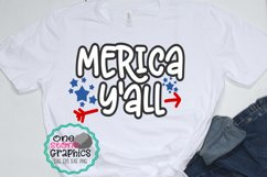 merica y'all svg,fourth of july svg,july fourth svg, merica Product Image 1