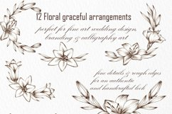 Graceful Lily, botanical Illustrations for wedding, vintage Product Image 6