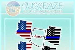 Arizona USA American Police Flag Patriotic Back The Blue SVG Product Image 4