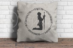 Faith Courage Hope Wisdom Strength, Christian woman praying Product Image 3