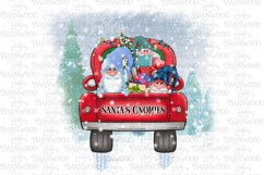 Santa's Gnomies Red Truck with Presents & Tree Scene Product Image 1