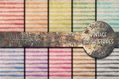 Vintage Brush Stripes Digital Papers Product Image 1