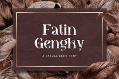 Fatin Gengky - Casual Serif Font Product Image 1