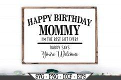 Happy Birthday Mommy SVG Product Image 1