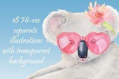 Koala watercolor clipart Product Image 6