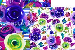 Watercolor Floral Seamless Patterns Product Image 5