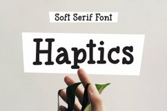 Web Font Haptics - Soft Serif Font Product Image 1