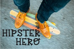 Hipster Hero - A Trendy Hand-lettered Font Product Image 1