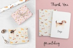 Watercolor Cute Dogs. Patterns and Cliparts Product Image 6