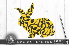 Easter Bunny SVG Easter Clipart SVG Buffalo Plaid Bunny SVG Product Image 5