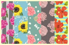 Vector Flowers Seamless Pattern Set Product Image 2