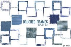 Blue Brush Stroke Square Frames Product Image 1